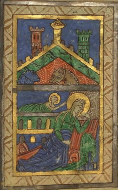Illuminated Manuscript, Claricia Psalter, The Nativity, Walters Art Museum Ms. W.26, fol.8r detail by Walters Art Museum Illuminated Manuscripts, via Flickr