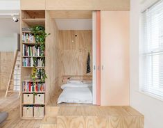 Australian firm Clare Cousins Architects proves urban living and functional family homes are not mutually exclusive. - Laura C. Mallonee's A Tiny Apartment Renovation for a Growing Family in Melbourne design collection on Dwell. Small Space Living, Tiny Living, Small Spaces, Living Spaces, Living Area, Living Rooms, Apartment Renovation, Apartment Design, Bedroom Apartment