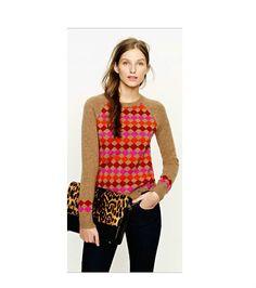 JCrew Womens Lambswool Diamond Sweater Size Small 2012 Season Sold Out | eBay