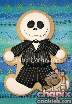 The Nightmare Before Christmas Jack Skellington Cookie Cutter. Halloween Cookies Decorated, Halloween Sugar Cookies, Halloween Treats, Happy Halloween, Decorated Cookies, Halloween Clothes, Costume Halloween, Fall Cookies, Cute Cookies