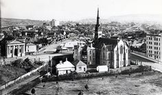 The three story Presbyterian manse still stood beside St Andrew's Church near the south western end of Civic Park,Newcastle in New South Wales in 🌹 Newcastle Nsw, Still Standing, My Town, News Online, Paris Skyline, Westerns, Past, Australia, South Wales