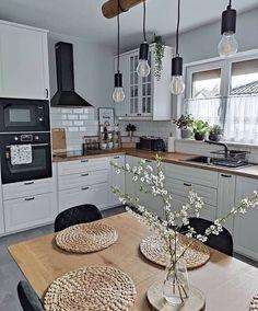 Grey Kitchen Designs, Kitchen Room Design, Home Decor Kitchen, Interior Design Kitchen, New Kitchen, Home Kitchens, Beautiful Kitchens, Kitchen Remodel, Sweet Home