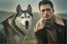 Harvey Haydon and his dog Xavier appear in an editorial for Gentlemans Journal. The English model sports a Belstaff leather bomber for the occasion. Business Casual Men, Men Casual, Mens Turtleneck, Sean O'pry, English Gentleman, The Fashionisto, Man And Dog, Shearling Jacket, Leather Jacket