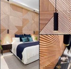 This timber feature wall is very much an eye catching feature in the space.