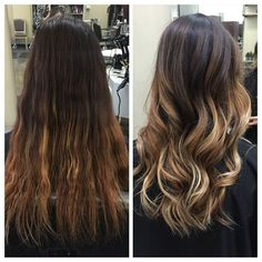 Love mastering my craft! Before and After on this birthday girl! Full #balayage #haircut and double #tone with #olaplex of course!