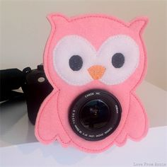 Camera Buddy Pink Owl Lens Accessory $6     We could making this! and with googly eyes!