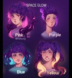 I wish we had glowing sparkly hair colors irl