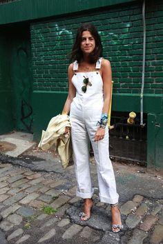 MAN REPELLER-Leandra Medine white jumpsuit