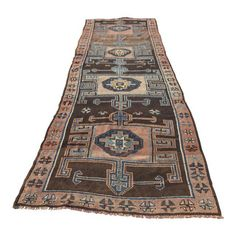 "Image of Vintage Turkish Oushak Rug - 4'7"" x 14'7"""