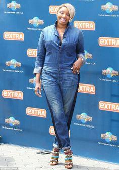 NeNe Leakes dons unforgiving mechanic-style denim jumpsuit on Extra Nene Leakes, Canadian Tuxedo, Denim Fashion, Womens Fashion, Denim Jumpsuit, African Attire, Beautiful Black Women, Plus Size Fashion, Style Me