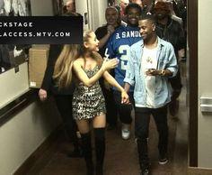Ariana Grande and Big Sean definitely dating. See their adorable PDA backstage at the VMAs.