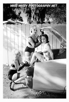 Bondi Holly, Gina Green, Sirena Siren by Miss Missy Photography, Lincoln , vintage, bondage, pinup, fashion, pinup, pinup photography, Los Angeles,