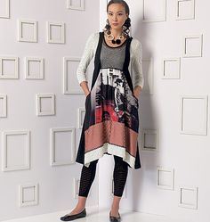 Vogue Patterns Misses' Top, Dress and Leggings 9108