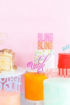 Because Why Not: Slang Cakes | Sugar & Cloth