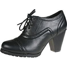@Overstock.com - Refresh Women's 'yoyo-01' Black Heeled Oxfords - With perforated details and a ten eyelet lace-up closure, these oxfords by Refresh are a modern take on the classic oxford. A 2.5-inch tapered heel adds feminine flair to these black faux leather heels.  http://www.overstock.com/Clothing-Shoes/Refresh-Womens-yoyo-01-Black-Heeled-Oxfords/6573086/product.html?CID=214117 $35.99