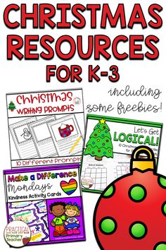 A blog post roundup of fun and engaging Christmas resources for Kindergarten, 1st grade, 2nd grade, and 3rd grade classrooms! Includes Christmas logic puzzles, Christmas writing prompts and activities, holiday kindness activities, Christmas S.T.E.M., at-home learning ideas, and more! Includes a few freebies for you! 1st Grade Activities, Fun Classroom Activities, Teaching Activities, Holiday Activities, Christmas Activites, Classroom Resources, Teaching Resources, 3rd Grade Classroom, Primary Classroom