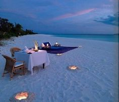 A romantic date setup