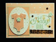 Baby Girl Shine - tammyreeves.stampinup.net Stampin' Up! Something for Baby and Celebrate Baby stamp sets; Lullaby DSP