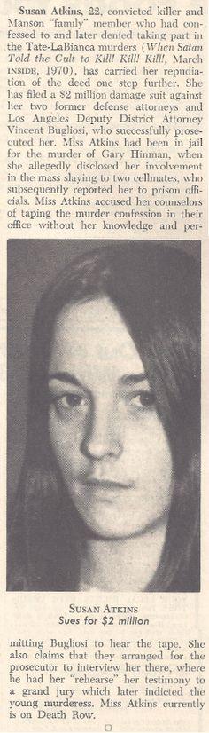 Susan Atkins : Manson Family