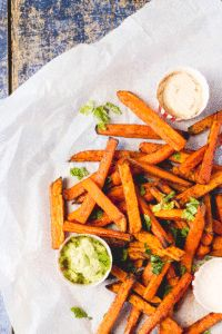 Carrot and Sweet Potato Fries