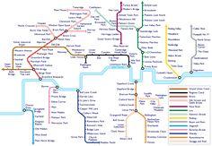 Ian Rawes - London Waterways sound map based on Harry Beck's Underground map. Sound Of The Underground, Underground Map, London Tube Map, London Map, South London, Transport Map, Public Transport, London Transport, United Kingdom
