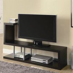 Monarch Specialties Cappuccino Universal Tv Stand