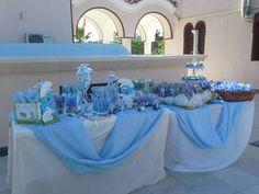 Τραπέζι με θέμα στρουμφάκια για μπομπονιέρες και γλυκά