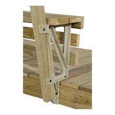 2x4 Basics Deck Bench Brackets — Sand, 2-Pk., Model# 90168 | Benches| Northern Tool + Equipment