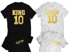 37 Best Tshirts for COUPLES images   Couple outfits, King queen ... 3addc474d92b