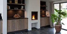 Keuken met open haard