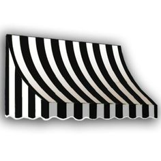AWNTECH 10 ft. Nantucket Window/Entry Awning (31 in. H x 24 in. D) in Black/White Stripe