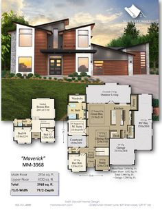 Spacious Modern Stunner with Exceptional Main Floor Step inside this gorgeous modern home and experience one of the finest main floors we've created. House Plans Mansion, Garage House Plans, House Floor Plans, Contemporary House Plans, Modern House Plans, Blue Prints, Step Inside, Plan Design, Billionaire