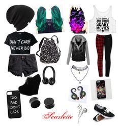 """""""Untitled #5"""" by scarcrazy ❤ liked on Polyvore featuring Coal, H&M, Forever Link, Victoria's Secret, Leg Avenue, Beats by Dr. Dre, Vans and Wet Seal"""