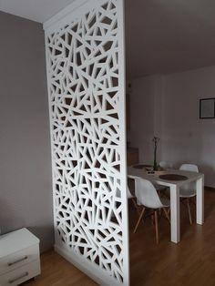 Archiwalne: Ścianka ażurowa działowa panel ażurowy biała ... Clinic, Divider, Touch, Studio, Healthy, Furniture, Home Decor, Wall Niches, Folding Screens