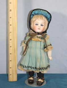 "Antique 9"" Bru BEBE Jumeau French Bisque Fashion Doll Orig Pin Clothes 