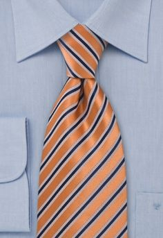 tie stripe structure copper Business tie with a stripe design held in snowy white and navy-blue