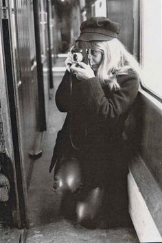 astrid kirchherr on the set of 'a hard day's night'