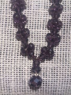 Vintage Amethyst Rhinestone Bead Necklace by GranmaSweeTreasures, $15.00