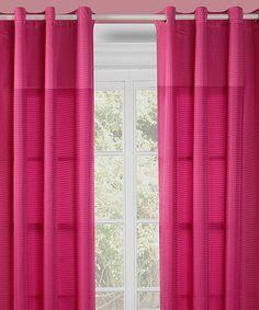 Look at this #zulilyfind! Fuchsia Reign Curtain Panel - Set of Two #zulilyfinds