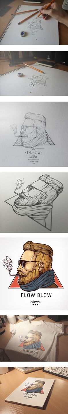 Flow-Blow illustration on Behance
