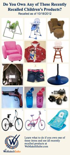 Recalls warnings on pinterest strollers bath seats and pet food