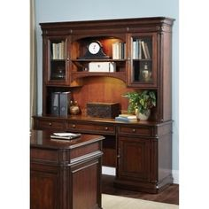 Liberty Brayton Manor Cognac Poplar Wood 3-piece Junior Executive Credenza
