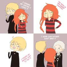 """I kissed my sister"" starring Jace, Clary, and Valentine Morgenstern XD"