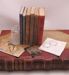 Instant Collection of Antique School Books and More