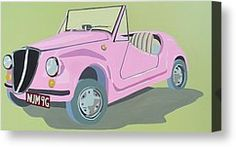 Fiat Canvas Prints - Fiat Jolly Canvas Print by Nicky Leigh
