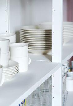 Iittala Teema on Lundia classic shelf Iittala Teema, Storage, Home, Home Kitchens, Shelves, Interior, Kitchen Dining, Table Settings, Classic Shelves