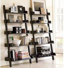 ladder bookshelves | and sizes on a ladder bookshelf being free standing they can also be ...
