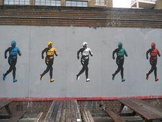 Jogger Street art near Old Truman Brewery in London (Photo Harun O.)