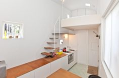 The Tiniest House in London, possibly the World, is for Sale just shy of Half a Million Dollars (This is my Dream Loft) Tiny House Big Living, Small Space Living, Home And Living, Living Area, Living Room, Tiny Apartments, Tiny Spaces, Lofts, Tiny Home Cost