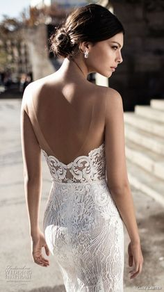 gali karten 2017 bridal long sleeves strapless sweetheart neckline full embellishment elegant sexy sheath wedding dress short train (8) zbv -- Gali Karten 2017 Wedding Dresses